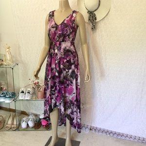 65ed274e Simply Vera Vera Wang Dresses - Simply Vera Vera Wang Pleated High-Low Maxi  Dress